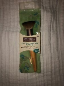 ♻️ NEW ecoTOOLS Makeup Brush -Custom Coverage Buffing Brush- 1290 With Eco Pouch