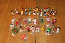 Vintage Christmas wooden decoration lot (38) made in Taiwan