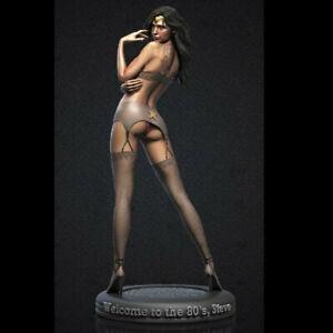 1/24 Resin Figures model 75mm Sexy Girl SuperHero Wonder Woman Unassembled