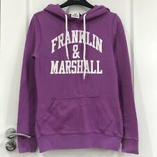 RRP£75 FRANKLIN & MARSHALL,PURPLE CRACK EFFECT LOGO  PULLOVER HOODIE SWEATER TOP