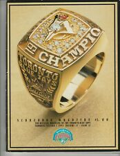 1993 Toronto Blue Jays Program Magazine vs Cleveland Indians MINT Condition