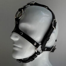 Leather Fetish Head Harness BDSM Mask BDSM Muzzle Mask with O-ring BDSM mask
