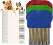 Pet Flea Comb Grooming Hair Dogs Cats Puppy Kitten Tail Fur Care Mites Fleas