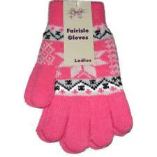 Gants et moufles roses en acrylique taille unique pour femme
