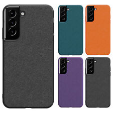 For Samsung S21 Ultra Note 20 S20 FE Note10 S9 Case Slim Leather Silicone Cover