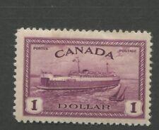 1946 Canada Stamp #273 Mint Hinged F/VF Disturbed Original Gum Train Ferry