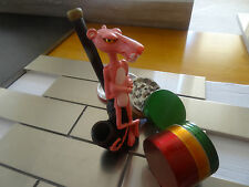 Pink Panther Ceramic Tobacco Smoking + 4 pcs.Metal Grinder  NOT glass  3342 + RG