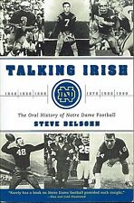 Football Notre Dame Talking Irish Oral History Lore Steve Delsohn 2001