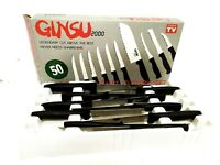 Ginsu 2000 Deluxe 10-Piece Stainless Steel Knives Cutlery Set AS SEEN ON TV! 90s