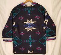 Vtg Pendleton Western Wool Blanket Womens Jacket Coat Sz L Knockabouts