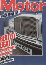 Motor magazine 20/10/1984 featuring TVR road test, Audi Quattro, Bentley, BMW M1