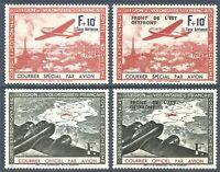 DR Nazi Frankreich Rare STAMP 1941 Overprint French Air Legion Fight Bolshevism