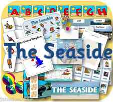 SEASIDE TOPIC KS1 EYFS SUMMER HOLIDAYS display lessons teaching resources CD