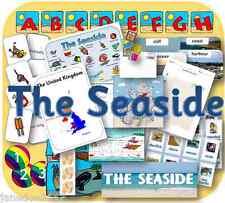 SEASIDE & SUMMER HOLIDAYS TOPIC KS1 EYFS teaching display, IWB etc resources CD