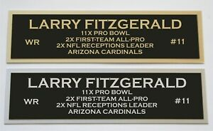 Larry Fitzgerald nameplate for signed jersey football helmet or photo