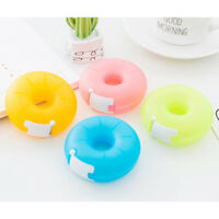 1xcartoon tape dispenser stationery portable donut tape holder invisible tape_ne