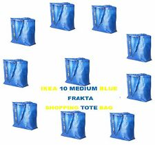 IKEA BLUE FRAKTA 10 MEDIUM BLUE SHOPPING LAUNDRY STORAGE BAG 10 GALLON NEW