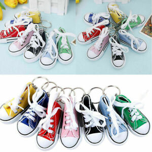 Creative Motorcycle Side Stand Canvas Shoes Cute Mini Keychain Keyring Chain AU