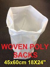 """500 White Woven Polypropylene Sandbags Sacks Flood Defence Sand Bags 18X24"""""""