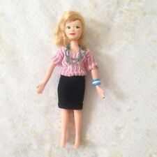VTG Doll Bendable Rubber Posable Toy Blouse Skirt Necklace Bracelets Lady Woman