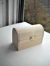 "Small Unfinished Wooden Storage Trunk Or Box - 4-5/8"" Long x 3"" Tall x 2-1/4"" W."