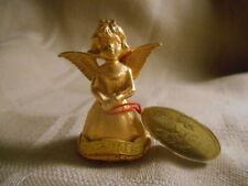 vintage 24 kt Gold plated Angel Creed heavenly gifts December birthday