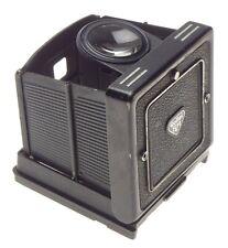Waist level viewfinder Rolleiflex TLR flip up type close focus magnifier used