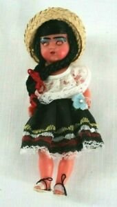 """COLUMBIA Native  Doll Hard Plastic 6 1/2"""" Never Played With Souvenir WB2"""