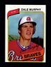 1980 Topps Dale Murphy Atlanta Braves Baseball Card #274 Near Mint ***Sharp***