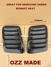 BONNET VENTS IDEAL FOR REDUCING UNDER BONNET HEAT ON FOUR WHEEL DRIVES