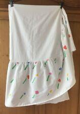Vintage Marimekko Dan River Twin Size Dust Ruffle Bedskirt in Snow Flower Print
