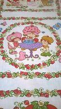 Strawberry Short Cake 1980 Single Flat Sheet Twin Bright Clean Sheet Girl Craft