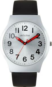 Verbalise Mens Dual Strap Silver Dial Easy to See Watch VEC-25