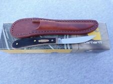 CASE XX * 2013 CARHARTT DARK MOLASSES DESK KNIFE WITH SHEATH KNIFE KNIVES