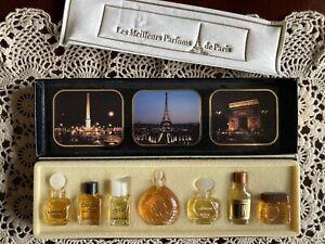 Vintage Perfume Miniature Bottles Les Meilleurs Parfums de Paris