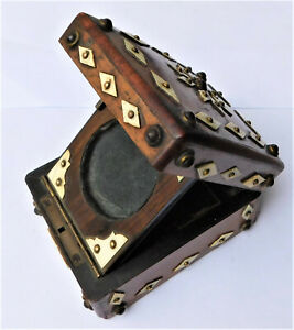 NO RESV c1890 Victorian Pocket Watch Holder Box Stand Vintage Antique