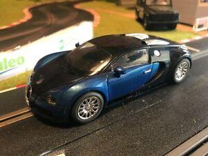 Scalextric Car Bugatti Veyron Metallic Blue/Dark Blue - Mint/As New Conditions