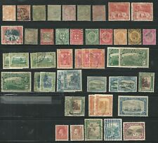 Jamaica: Lot of stamps with some val. repeated news with hinged and used JA30