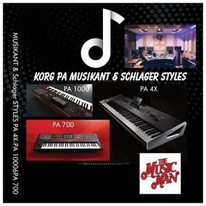 Korg SCHLAGER Styles Für PA 4X-PA 1000-PA 700 Neu ! Nouveau ! New !
