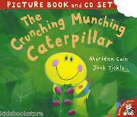 Preschool Story Picture Book & CD - THE CRUNCHING MUNCHING CATERPILLAR - NEW