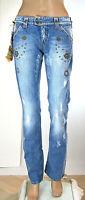Jeans Donna Pantaloni MET Made in Italy SA049 Tg da 26 27 28 32 veste piccolo