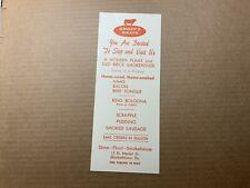 Groff's Meats Store Plant Smokehouse Elizabethtown Pennsylvania Vintage Brochure