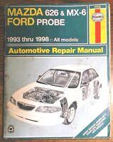 1993-1998 Mazda 626, MX-6 and Ford Probe Haynes Repair Service Shop Manual 61042