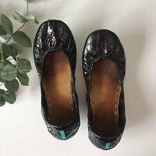 Tieks Obsidian Black Ballet Flats Shoes Sz 8