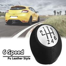 6 Speed Gear Stick Shift Knob PU Leather For RENAULT Laguna Megane Clio Scenic