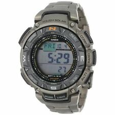 Casio Pathfinder Triple Sensor Solar Men's Watch - Titanium (PAG240T-7CR)
