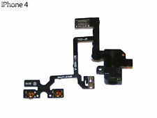 Cable Flex Conector Jack Audio Volume Mute para iPhone 4 4G Negro con Fijador