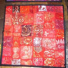 Red Cushion Covers1x70,2x41 bead sequin Patchwork Sari