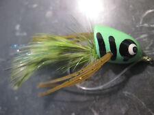 HARD DIVER GREEN FROG FLY FISHING FLIES BASS PIKE POPPER