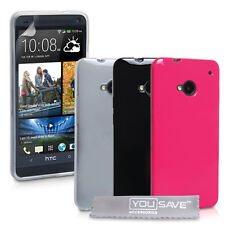 Accessories For The HTC ONE Silicone Gel Case Cover Skin & Screen Protector UK